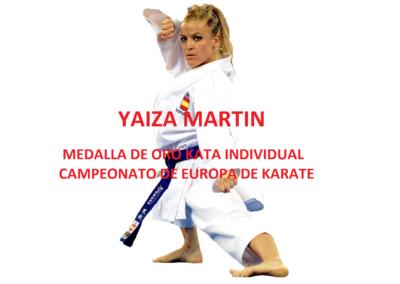 Yaiza Martín, Medalla de Oro Europeo