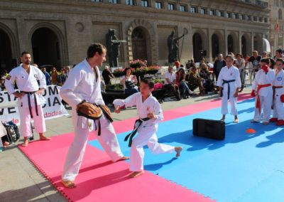 Karate en la calle