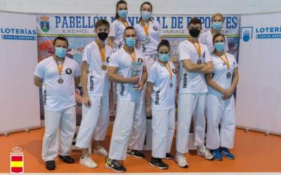 La Federación Aragonesa queda tercera en el campeonato de España de Karate tradicional