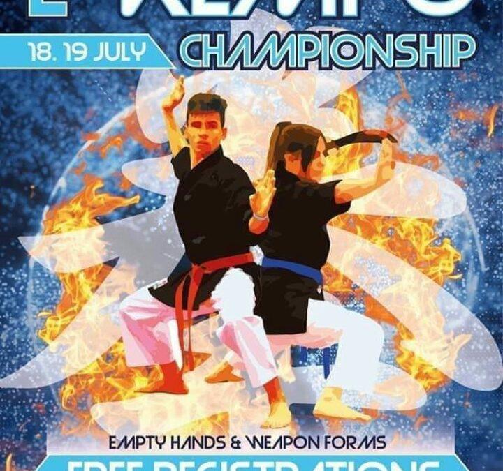 Primer campeonato internacional de Kenpo IKF ON-LINE los días 18 y 19 de julio