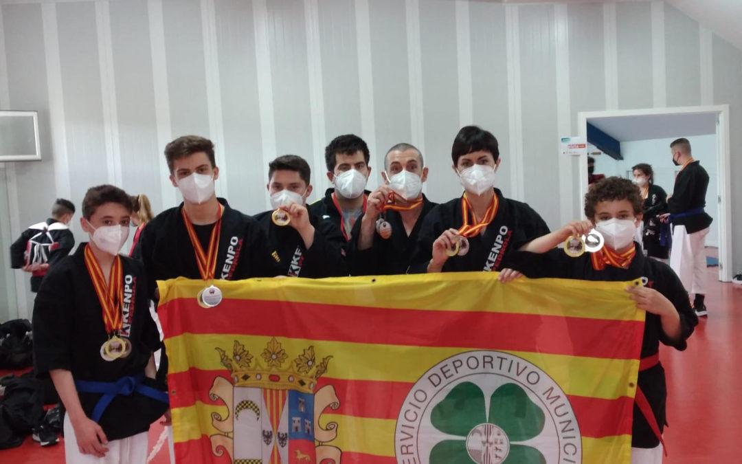 Grandes resultados para el C.D. Deporte Pedrola en el campeonato de España de clubes de Kenpo