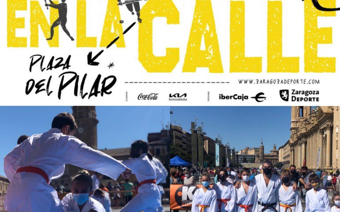 El Karate protagonista en la Plaza del Pilar de Zaragoza